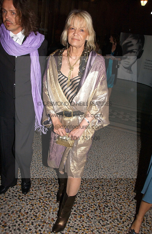 ANITA PALLENBERG at a gala dinner in the presence of HM Quenn Silvia of Sweden and HM Queen Noor of Jordan in aid of the charity Mentor held at the Natural History Museum, Cromwell Road, London on 23rd May 2006.<br /><br />NON EXCLUSIVE - WORLD RIGHTS