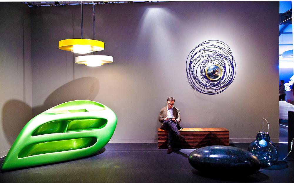 Furnishings at the Design Miami satellite show during Miami Art Week 2010.