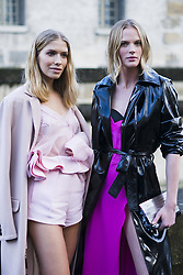 March 4, 2018 - Paris, France - (L-R) Lena Perminova and Anne V, are seen in the streets of Paris after the Valentino show during Paris Fashion Week Womenswear Fall/Winter 2018/2019 on March 4, 2018 in Paris, France. (Credit Image: © Nataliya Petrova/NurPhoto via ZUMA Press)