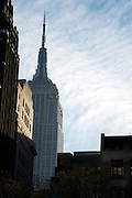 Empire State Building New York city seen from Bryant Park