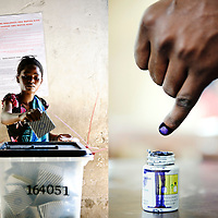 USE ARROWS ? ? on your keyboard to navigate this slide-show<br /> <br /> Dar Es Salaam, Tanzania, 31 October 2010<br /> A Tanzanian woman casts her vote in a polling station of Dar Es Salaam during the presidential election day.<br /> Photo: Ezequiel Scagnetti