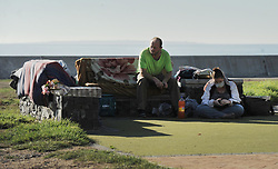 South Africa - Cape Town - 16 May 2020 - There is a small group of five homeless people thatlives in a tent on the Sea Point Promenade. They arrived from Pretoria two weeksago and cant find any space to live in the existing shelters in Cape Town. Photographer: Armand Hough/African News Agency(ANA)
