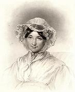 Frances Trollope (born Milton - 1780-1863) English writer and novelist. Mother of the novelist Anthony Trollope (1815-1882). Engraving published London 1835.