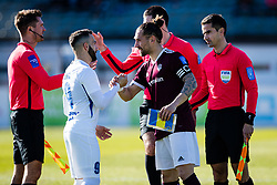 Mitja Lotric of NK Celje and Luka Majcen of NK Triglav  during the football match between NK Triglav Kranj and NK Celje in 25. Round of Prva liga Telekom Slovenije 2019/20, on March 8, 2020 in Sportni park Kranj, Slovenia. Photo by Grega Valancic / Sportida
