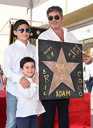 Simon Cowell receives a star on the Hollywood Walk of Fame. 22 Aug 2018 Pictured: Simon Cowell,Eric Cowell,Adam Silverman. Photo credit: AXELLE/BAUER-GRIFFIN / MEGA TheMegaAgency.com +1 888 505 6342