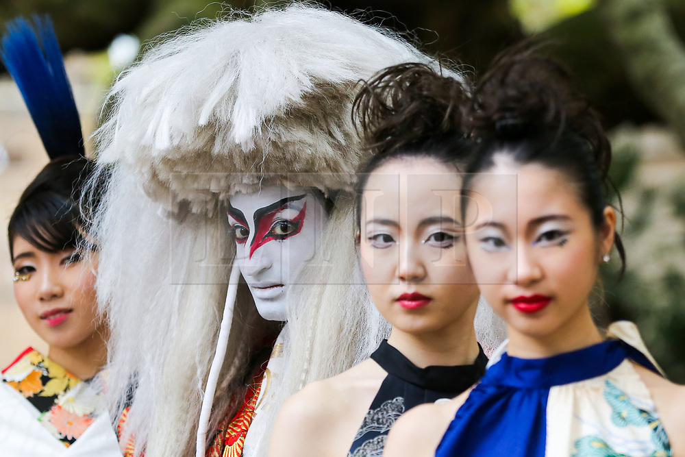 """© Licensed to London News Pictures. 29/09/2019. London, UK. Performers wearing Japanese outfits during the annual Japan Matsuri festival of Japanese music, food and culture in Trafalgar Square. The concept of the theme this year is """"Future generations"""".<br /> <br /> Photo credit: Dinendra Haria/LNP"""