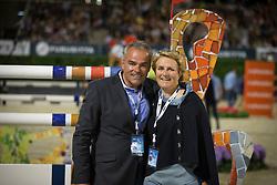Maria Gretzer (SWE), Alois Pohlmann Schweckhorst (GER)<br /> Final competiton<br /> Furusiyya FEI Nations Cup™ Final - Barcelona 2014<br /> © Dirk Caremans<br /> 11/10/14