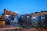 Hurricane damaged houses in Gibara, Holguin, Cuba.