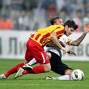 Besiktas's Jose Maria Gutierrez HERNANDEZ (Guti) (R) during their UEFA Europa League Play-Offs first leg match soccer match Besiktas between Alania Vladikavkaz at Inonu stadium in Istanbul Turkey on Thursday August 18, 2011. Photo by TURKPIX