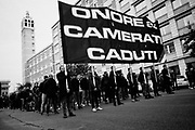 Italian fascist party CasaPound activists take part in the parade commemorating the 40th anniversary of the massacre of Acca Larentia, where three MSI activist were killed, on January 07, 2018 in Rome. Christian Mantuano / OneShot<br /> <br /> Commemorazione per i 40 anni dalla strage di Acca Larentia, dove vennero uccisi dei militanti del Fronte della Gioventù davanti la sede del Movimento Sociale Italiano, Roma 07 Gennaio 2018. Christian Mantuano / OneShot