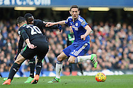 Nemanja Matic of Chelsea (r) in action. Barclays Premier league match, Chelsea v Stoke city at Stamford Bridge in London on Saturday 5th March 2016.<br /> pic by John Patrick Fletcher, Andrew Orchard sports photography.