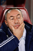 Astana´s coach Stanimir Stoilov before Champions League soccer match between Atletico de Madrid and FC Astana at Vicente Calderon stadium in Madrid, Spain. October 21, 2015. (ALTERPHOTOS/Victor Blanco)