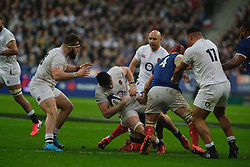 February 2, 2020, Saint Denis, Seine Saint Denis, France: The scrum-half of England Team BEN YOUNGS in action during the Guinness Six Nations Rugby tournament between France and  England at the Stade de France - St Denis - France.. France won 24-17 (Credit Image: © Pierre Stevenin/ZUMA Wire)