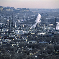 The Conoco Philips oil refinery is a major employer in Billings, Montana.