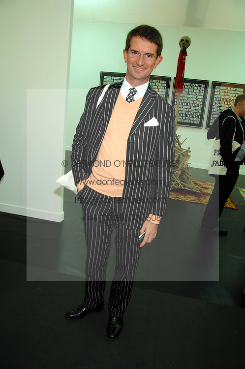 COUNT MANFREDIE DELLA GHERARDESCA at the opening of Frieze Art Fair 2007 held in regent's Park, London on 10th October 2007.<br /><br />NON EXCLUSIVE - WORLD RIGHTS