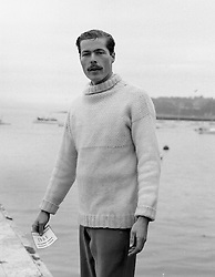 The 7th Earl of Lucan at Cowes in the Isle of Wight, UK on 7th September 1963.