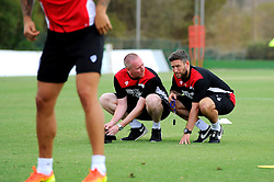 Bristol City head coach, Lee Johnson and Adam Baker  - Mandatory by-line: Joe Meredith/JMP - 19/07/2016 - FOOTBALL - Bristol City pre-season training camp, La Manga, Murcia, Spain