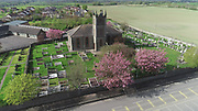 Knockbridge, County, Louth, Aerial photo, Church, village, countryside, aerial photos
