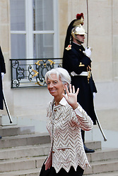 Director of the International Monetary Fund Christine Lagarde at the Elysee Palace before going to the ceremony of the centenary of the armistice of 1918 at the Arc de Triomphe on November 11, 2018 in Paris, France. Photo by Thibaud MORITZ ABACAPRESS.COMis welcomed at the Elysee Palace by the French President, Emmanuel Macron and his wife Brigitte Macron before going to the ceremony of the centenary of the armistice of 1918 at the Arc de Triomphe on November 11, 2018 in Paris, France. Photo by Thibaud MORITZ ABACAPRESS.COM