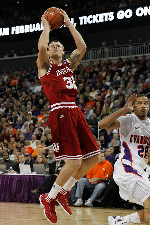 16 November 2011: Indiana Forward Derek Elston (32)  as the Indiana Hoosiers played the Evansville Purple Aces in a college basketball game in Evansville, Ind.