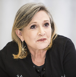 December 27, 2016 - File - CARRIE FRANCES FISHER (October 21, 1956 - December 27, 2016) was an American actress, screenwriter, author, producer, and speaker. She was known for playing Princess Leia in the Star Wars films. Fisher was also known for her semi-autobiographical novels, including Postcards from the Edge, and the screenplay for the film of the same name, as well as her autobiographical one-woman play, and its nonfiction book, Wishful Drinking, based on the show. Her other film roles included Shampoo (1975), The Blues Brothers (1980), Hannah and Her Sisters (1986), The 'Burbs (1989), and When Harry Met Sally (1989). Pictured: December 4, 2015 - Hollywood, CA, USA - Carrie Fisher ''Star Wars the Force Awakens' (Credit Image: © Armando Gallo via ZUMA Studio)