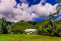 La Maison Blanche (the White House), a store selling pareos, island of Moorea, French Polynesia.