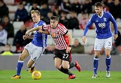 Birmingham City's Maikel Kieftenbeld tackles Sunderland's Lynden Gooch