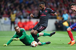 May 3, 2018 - Madrid, Spain - ALEXANDRE LACAZETTE of Arsenal FC during the UEFA Europa League, semi final, 2nd leg football match between Atletico de Madrid and Arsenal FC at Metropolitano stadium in Madrid, Spain (Credit Image: © Manuel Blondeau via ZUMA Wire)