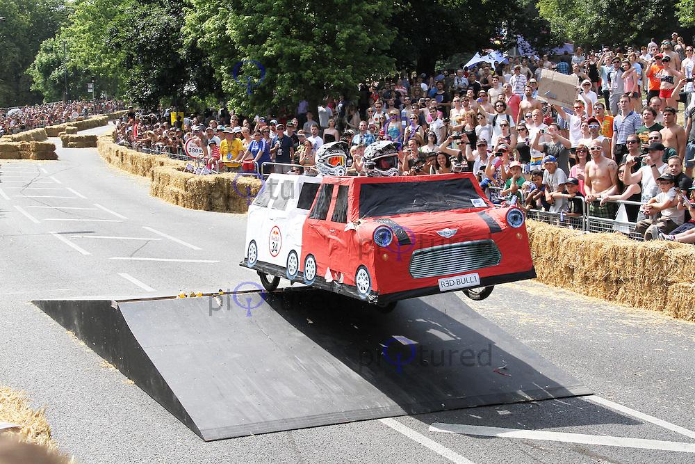 The Italian Job, Red Bull Soapbox Race, Alexandra Palace, London UK, 14 July 2013, (Photoby Richard Goldschmidt)