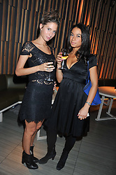 Left to right, JEMIMA JONES and HANNAH VOGLE at the Pig Business Fundraiser, Sake No Hana, St.James's, London on 26th September 2012.