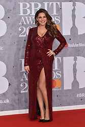 February 20, 2019 - London, United Kingdom of Great Britain and Northern Ireland - Kelly Brook arriving at The BRIT Awards 2019 at The O2 Arena on February 20, 2019 in London, England  (Credit Image: © Famous/Ace Pictures via ZUMA Press)