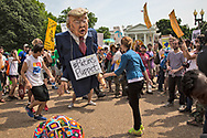 Donald Trump puppet after the  Climate March.
