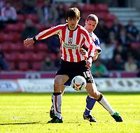Photo: Alan Crowhurst.<br />Southampton v Cardiff City. Coca Cola Championship. 01/04/2006. Grzegorz Rasiak on the ball for Saints.