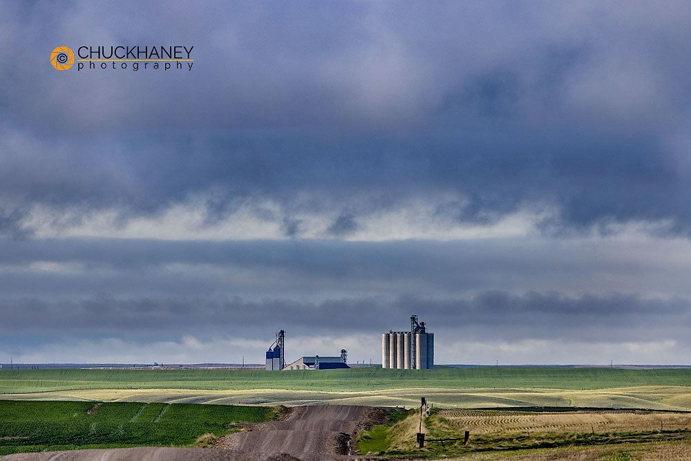 High speed granary in Collins, Montana, USA