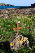 Cross on a grave, Castlehaven, near Castletownshend, West Cork, Ireland