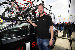 February 20, 2019 - Lagos, Portugal - LAGOS, PORTUGAL - FEBRUARY 20 : ELIJZEN Michiel (NED) Ass. Sports Director of TEAM SUNWEB pictured before stage 1 of 45th edition of the Volta Algarve cycling race, with start in Portimao and finish in Lagos on February 20, 2019 in Lagos, Portugal, 20/02/2019 (Credit Image: © Panoramic via ZUMA Press)