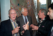JAN MOL; SIR EVELYN DE ROTHSCHILD; MARK SHAND, The launch party for Elephant Parade hosted at the house of  Jan Mol. Covent Garden. London. 23 June 2009.