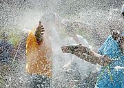 Caldes de Malavella-Girona.  El francés Thomas Levet celebra con sus compañeros el campeonato del 83º torneo de Golf open de España en la edicioón del 2009 celebrado en la localidad gerundense de Caldes de Malavella.  Thomas Levet se ha impuesto al paraguayo Fabrizio Zanotti que se ha llevado el segundo lugar y al irlandés Peter Lawrie que junto al Danés Thomas Bjorn han quedado en tercer lugar.
