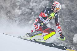Matej Vidovic (CRO) during 1st run of Men's Slalom race of FIS Alpine Ski World Cup 57th Vitranc Cup 2018, on March 4, 2018 in Kranjska Gora, Slovenia. Photo by Ziga Zupan / Sportida
