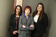 SHOT 12/4/19 11:16:20 AM - McGuane & Hogan, P.C., a Colorado family law firm located in Denver, Co. Includes attorneys Kathleen Ann Hogan, Halleh T. Omidi and Katie P. Ahles. (Photo by Marc Piscotty / © 2019)