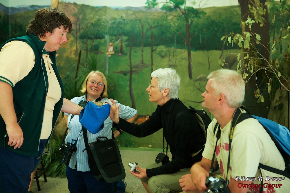 Presenting Local Animals to EW Volunteers, Healesville Sanctuary