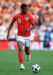 England's Marcus Rashford during the International Friendly match at Elland Road, Leeds. PRESS ASSOCIATION Photo. Picture date: Thursday June 7, 2018. See PA story SOCCER England. Photo credit should read: Mike Egerton/PA Wire. RESTRICTIONS: Use subject to FA restrictions. Editorial use only. Commercial use only with prior written consent of the FA. No editing except cropping