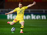 Rugby Union - 2020 / 2021 European Rugby Heineken Champions Cup - Round of 16 - Gloucester vs La Rochelle - Kingsholm<br /> <br /> La Rochelle's Ihaia West kicks at goal.<br /> <br /> COLORSPORT/ASHLEY WESTERN