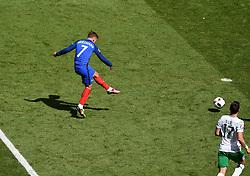Antoine Griezmann of France scores his second goal of the game  - Mandatory by-line: Joe Meredith/JMP - 26/06/2016 - FOOTBALL - Stade de Lyon - Lyon, France - France v Republic of Ireland - UEFA European Championship Round of 16