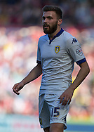 Leeds United FC midfielder Stuart Dallas    during the Sky Bet Championship match between Middlesbrough and Leeds United at the Riverside Stadium, Middlesbrough, England on 27 September 2015. Photo by George Ledger.
