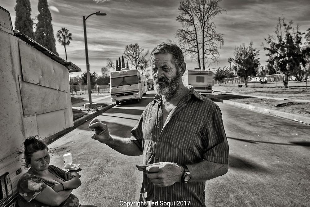 Homeless encampment near LAX.