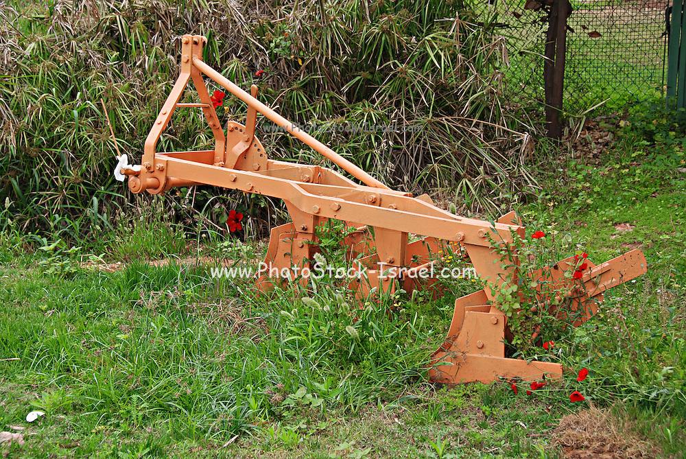 Old Manual iron plough single blade