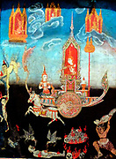 King Nimi Visits the Hells, 1800-1850.  This scene comes from the Buddha's last ten former births.  Thailand.