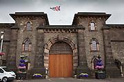 The main gates. HMP Wandsworth, London, United Kingdom
