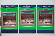 The Lloyds TSB cashpoint ATM machines.